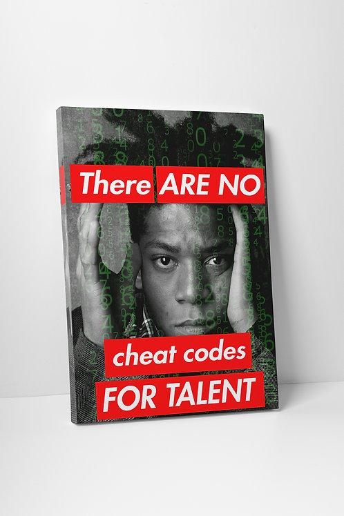 Basquiat Inspired Modern Pop Culture Canvas Art, Hypebeast Canvas Print