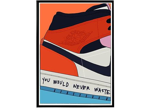 Melody Ehsani x Air Jordan 1 Sneaker Poster, Hypebeast Poster, Kicks Poster