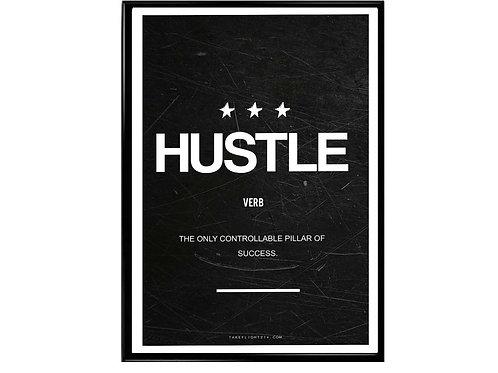 Hustle Minimal Art Motivational Poster, Hypebeast Poster