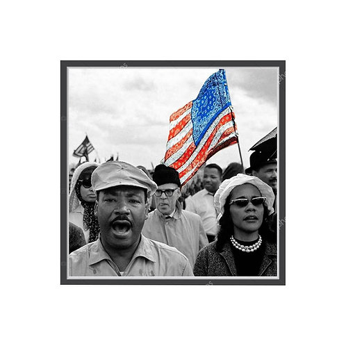 Martin Luther King Bandanna Flag Poster, Hypebeast Poster Pop Culture