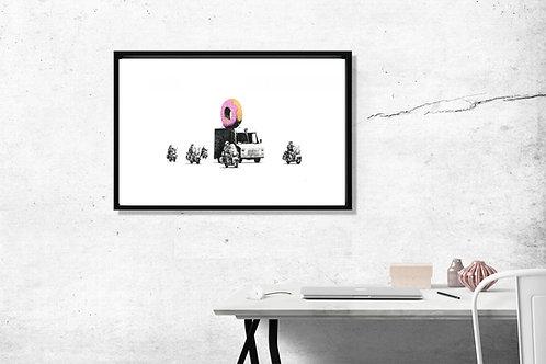 Banksy Donut Truck Art Poster Hypebeast Posters Prints Street Graffi