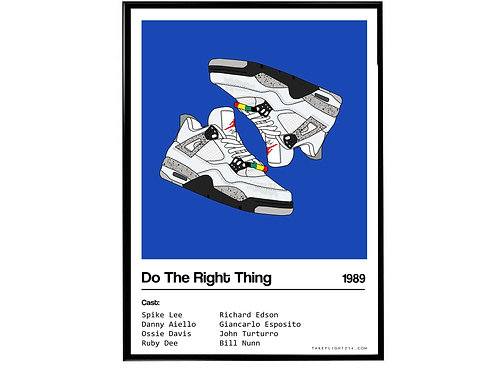 Do the Right Thing Movie Air Jordan Sneaker Poster, Hypebeast Poster