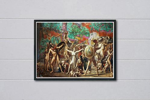 Clashing Realities 2 Poster, Classic Art Poster, Pop Culture, Modern Pop Art