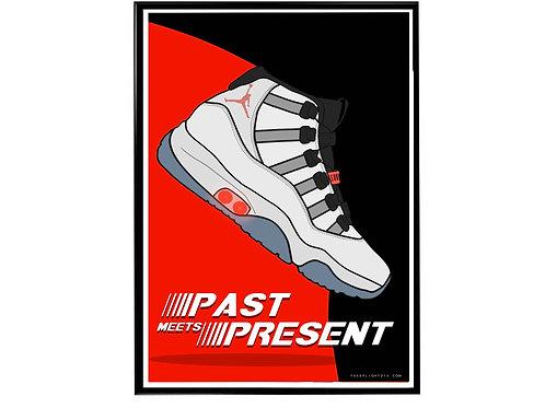 Air Jordan 11 Adapt Sneaker Poster, Hypebeast Poster
