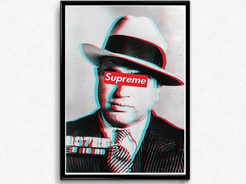Supreme Al Capone Poster, Hypebeast Posters Prints, Modern Pop Art Poster