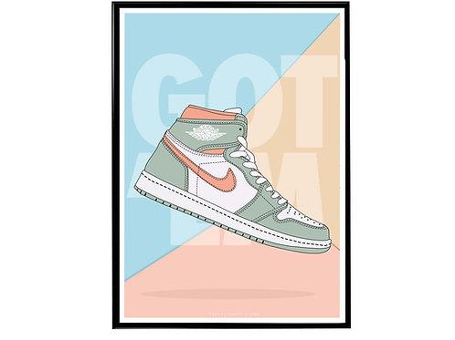 Air Jordan 1 Healing OG Sneaker Poster, Hypebeast Poster, Sneaker A