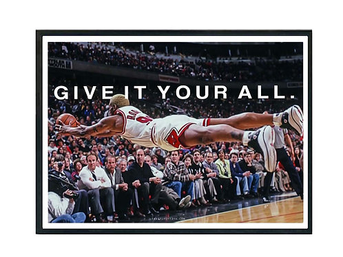 Give it Your All Dennis Rodman Poster, Hypebeast Poster