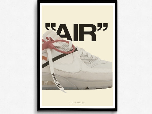 Off White X Nike Air Max Poster, Modern Wall Art, Hypebeast Sneaker Poster
