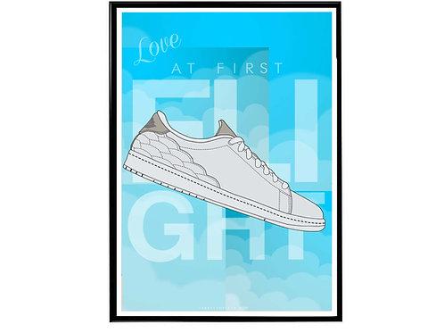 Air Jordan Centre Court Sneaker Poster, Hypebeast Poster