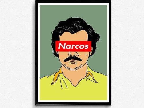 Pablo Escobar Narcos Poster, TLOP Art Poster, Hypebeast Illistration Art