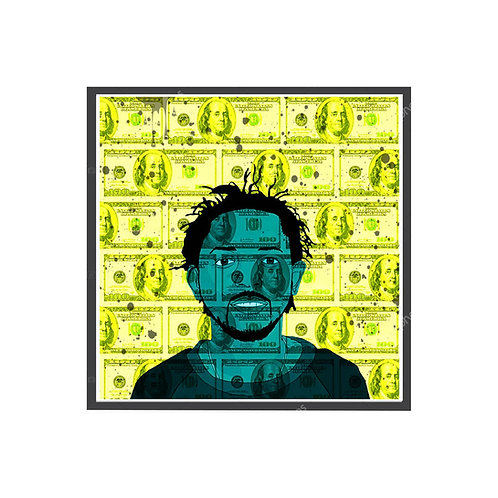 Kendrick Lamar C.R.E.A.M. Poster, Hypebeast Poster Pop Culture Sneaker Wall Art