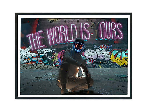 The World is Yours Graffiti Hypebeast Poster