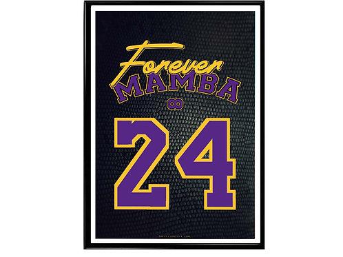 Kobe Bryant Forever Mamba Snakeskin Poster, Hypebeast Poster