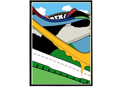 Chunky Dunky SB Dunk Close Sneaker Wall Poster, Hypebeast Poster, Kicks Po