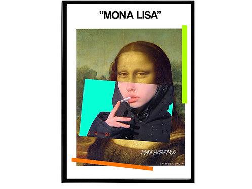 Mona Lisa Mixed Media Pop Art Poster - Canvas