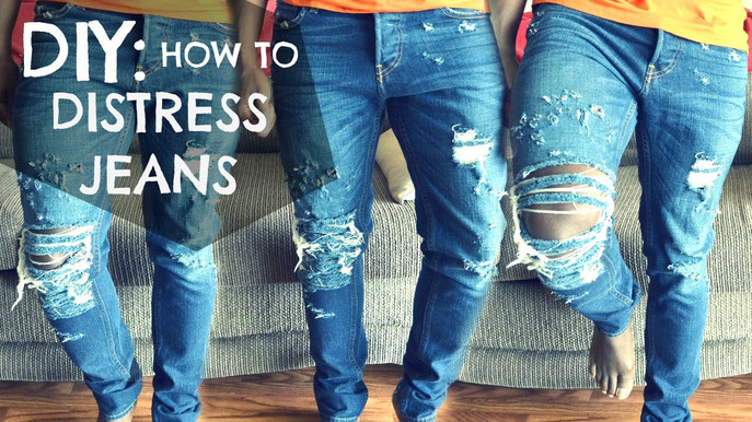 How To Make Your Own Distressed Jeans, A DIY On Ripped Denim