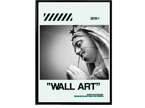 Virgin Mary Urban Pop Art Poster - Canvas