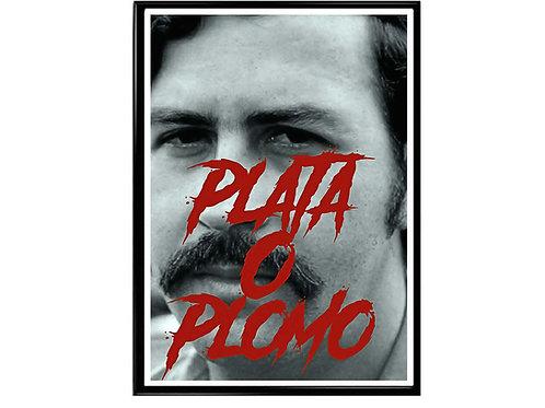 Pablo Escobar Plata o Plomo Poster, Hypebeast Poster, Pop Art Poster