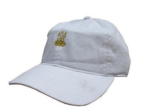 Custom Crown Mask Cotton Adjustable White Dad Hat