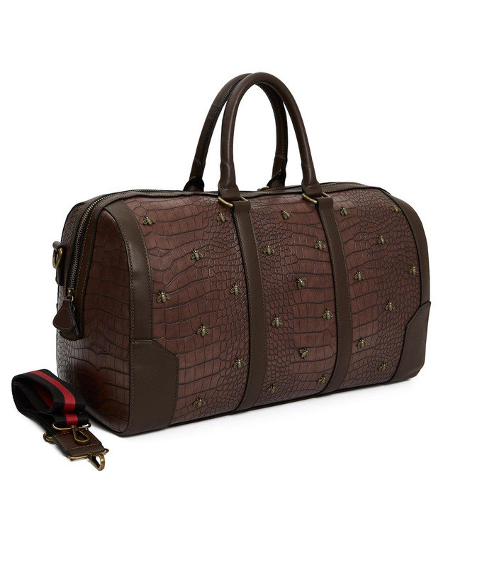 "CHASIN' ""THE BAG!$."" Introducing the Reason Clothing - Monogram Croc. Duffel Bag"