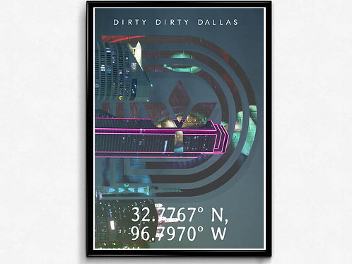 Triple D Dirty Dallas Poster, Hypebeast Poster, Pop Culture Poster, Dallas Tx