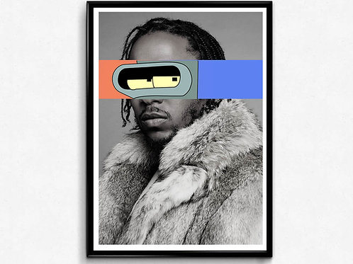Kendric Lamar Eyes Poster, Hypebeast Poster Print, Mixed Media Poster Art