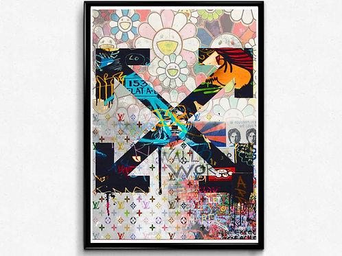 Modern Graffiti Pop Art Collage Poster Japanese Pop Culture Hypebeast Poster Art