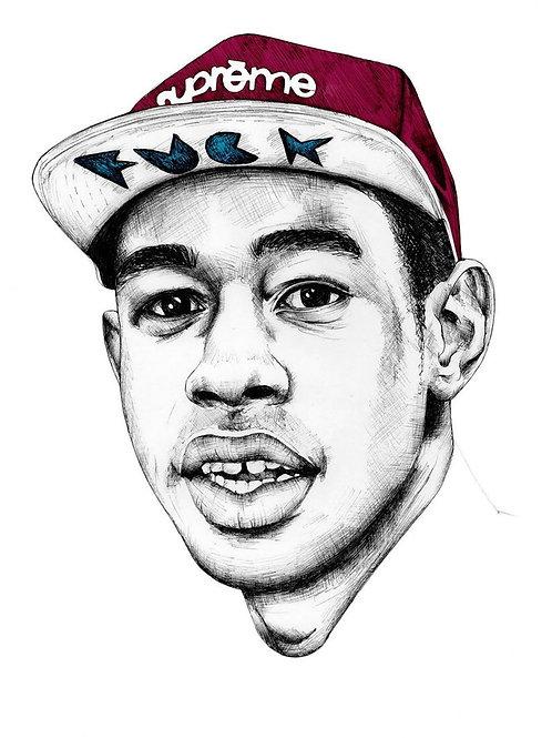 Tyler The Creator Drawing Custom Kicks Sneaker 12x18 Poster Art
