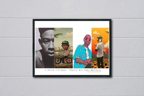 Tyler The Creator Album History Poster, Wolf Gang Hypebeast Poster Wall Art