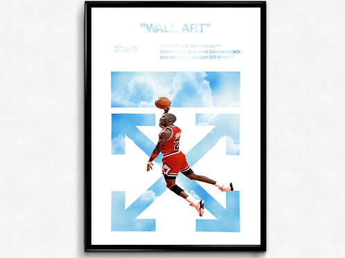Off White x Air Jordan Poster, Hypebeast Poster Print, Pop Culture Art