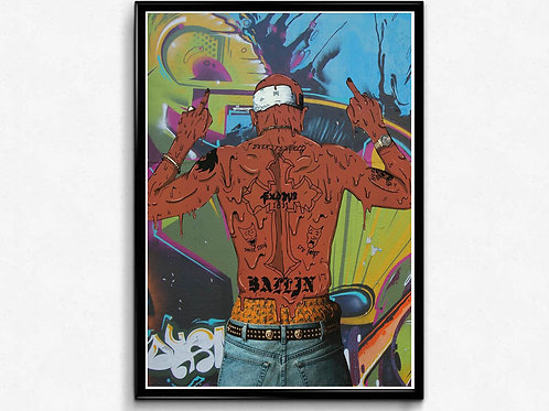 Tupac Graffiti Poster, Hypebeast Posters Prints, 2 Pac Hip Hop Poster Street Art