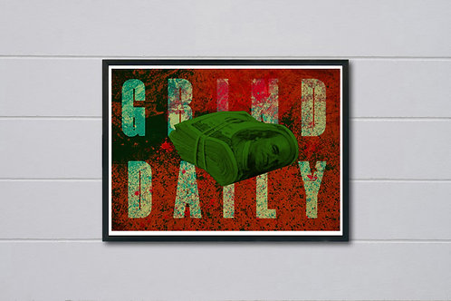 Grind Daily Poster, Hypebeast Posters Prints, Yeezy Poster, Graffiti Street Art