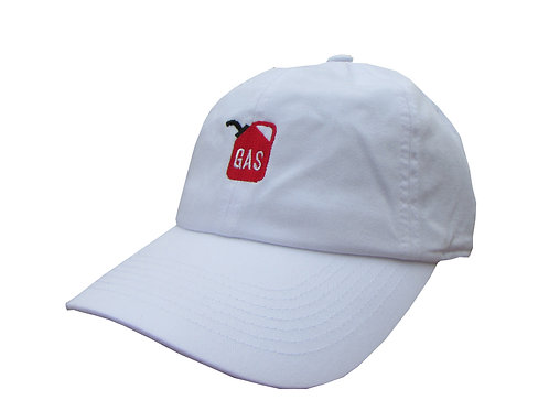 Gas 420 White Emoji Meme Twill Cotton Low Profile 6 God Yeezus Dad Hat