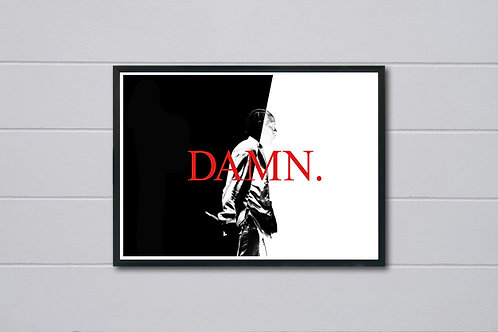 Kendrick Lamar Damn Art Poster, Hypebeast Poster Print, Scarface Style
