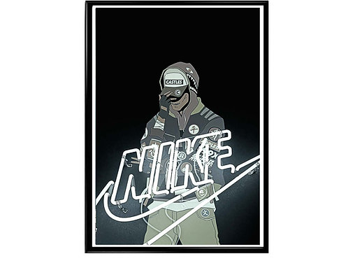 Neon Sign Sneaker Poster, Hypebeast Poster Sneaker Art