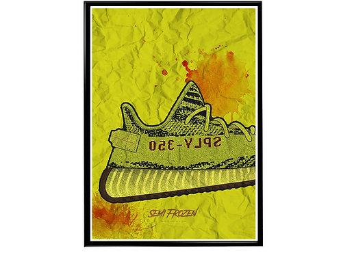 Yeezy Art Semi Frozen Sneaker Poster, Hypebeast Poster, Modern Pop Art