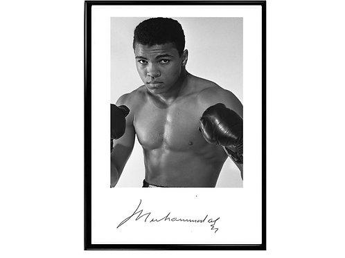 Muhammas Ali Signature Poster, Classic Sports Poster
