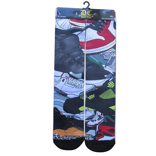 Custom Full Sublimition Sneaker Print Socks