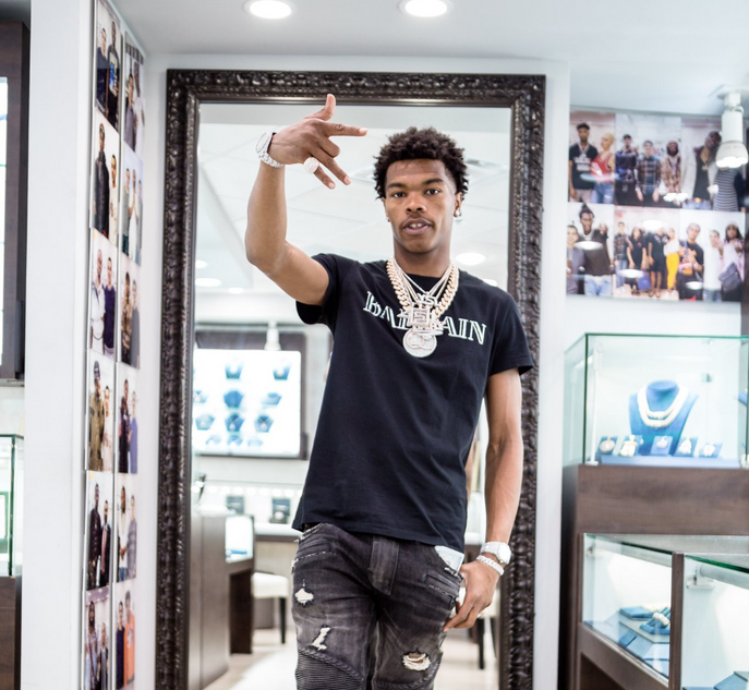"""Drip, HARD, Shop.$"" Shopping ""Drip Harder"" sneaker motifs with Lil Baby!"