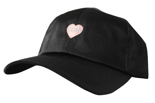 Bae Pink Heart Satin Dad Cap Custom Popular Low Profile Dad Hat