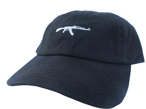 AK 47 Gun Bk. Yeezus Emoji Meme Drake Twill Cotton Dad Hat