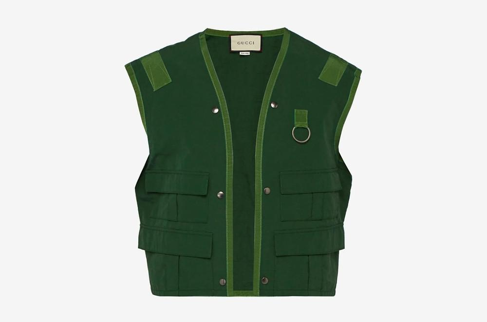 Gucci designer fishing vest