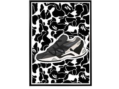 Bape x Reebok Sneaker Poster, Hypebeast Poster, Kicks Pos