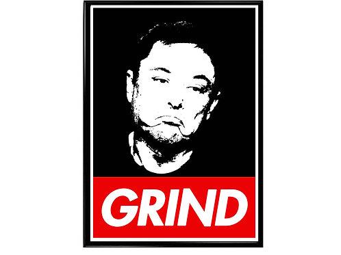 Elon Musk Grind Pop Art Poster, Hypebeast Poster, Graffiti Poster