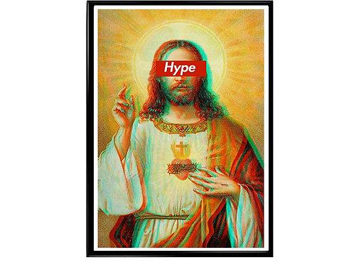 Hype Jesus Poster, Hypebeast Poster, Streetwear Poster