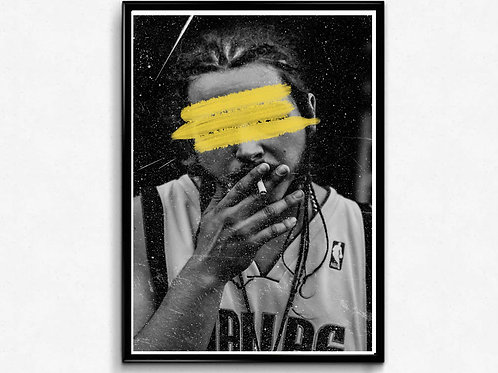 Post Malone Grunge Poster, Hypebeast Poster, Pop Culture Poster, Hip Hop Prints