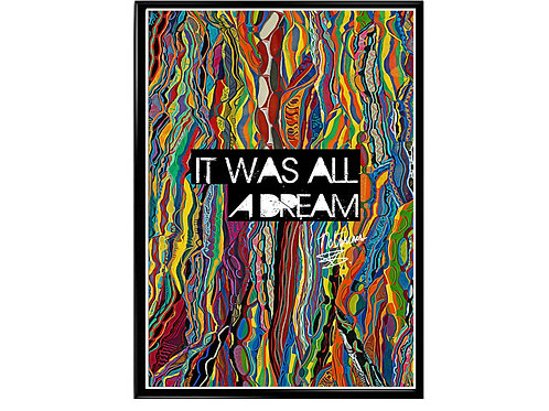 Notorious Big Sweater All A Dream Poster, Hypebeast Poster, Street Art Poster