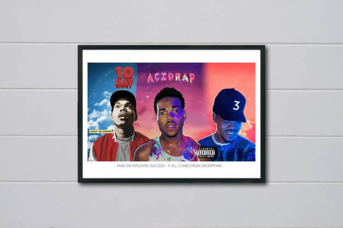 Chance The Rapper History Poster, Hypebeast Posters Prints, Rap Song Quote Print