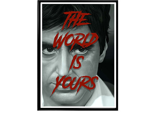 Scarface The World is Yours Poster, Hypebeast Poster, Pop Art Poster
