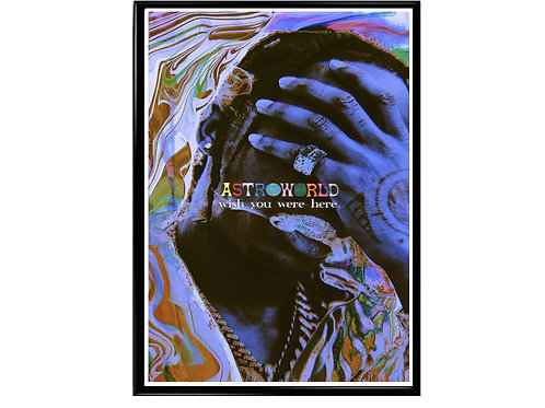 Astroworld Acid Poster, Hypebeast Poster, Music Hip Hop Poster